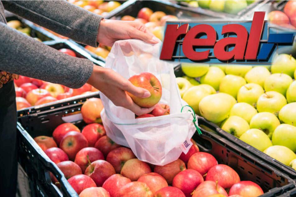 Ab 2020 soll es bei Real keine Plastikbeutel mehr in der Obst- und Gemüseabteilung geben.