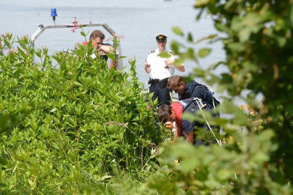 Helfer der Feuerwehr ziehen eine Leiche aus dem Wasser. (Symbolbild)