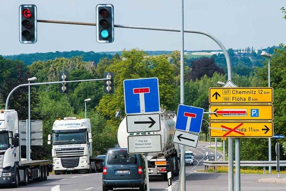 Überall Sackgassen: Das Frankenberger Zentrum ist für Autofahrer nur über Umwege erreichbar.