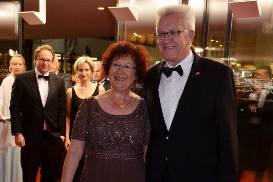 Landesvater Winfried Kretschmann (Grüne) mit Ehefrau Gerlinde.