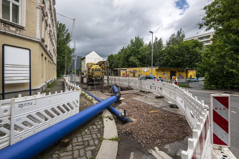 Am Freibad Bernsdorf baute der ESC schon einen Abwasserkanal. Mehr als 50 Bau- und Sanierungsmaßnahmen kommen 2021 dazu.