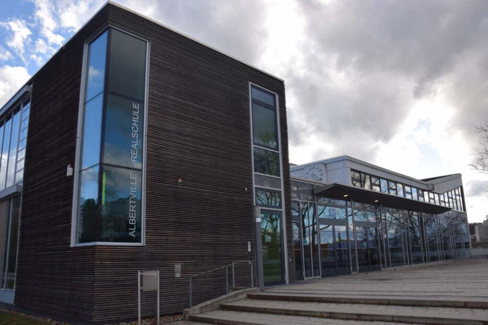 Die renovierte Albertville-Realschule im März 2019.