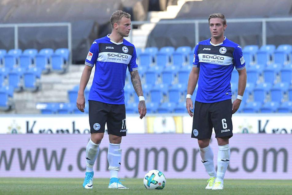 Bei der Testspiel-Niederlage gegen Norwich City (1:3) stand Schütz (r.) zuletzt auf dem Platz.