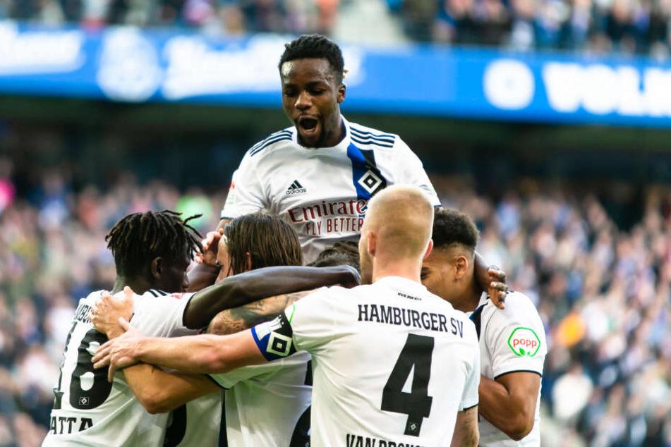 Beim HSV herrschte nach dem Sieg kollektiver Jubel.