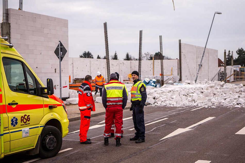 Im Februar erschlug in Rückmarsdorf diese einstürzende Wand eines Neubaus einen  Arbeiter (46).