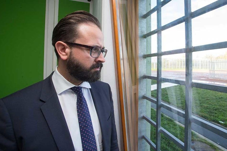 Sachsens Justizminister Sebastian Gemkow bei einem Besuch der Jugendjustizvollzugsanstalt Regis-Breitingen.
