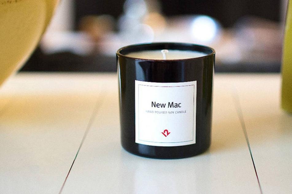 Diese Kerze bringt den exklusiven Unboxing-Geruch eines Macbooks zu Euch nach Hause!