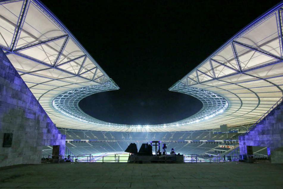 Hier wollen die Bayern, Bremen, Hamburg und Leipzig hin: Das Berliner Olympiastadion, Austragungsort des Pokalfinals am 25. Mai.