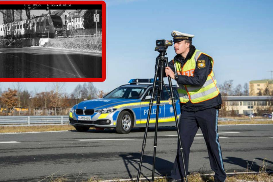 Polizist stellt Radarfalle falsch auf und sorgt für kurioses Blitzer-Foto