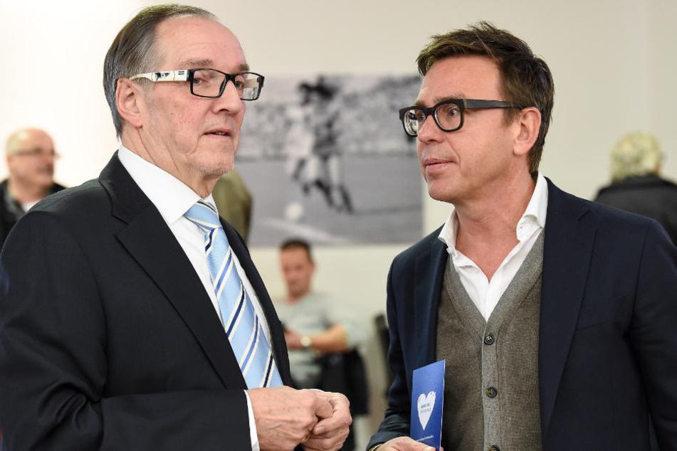 Präsident Hans-Jürgen Laufer (l.) und Geschäftsführer Markus Rejek sanieren den Club.