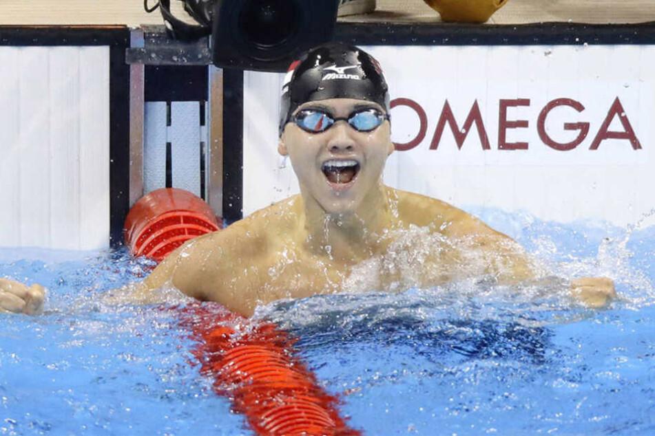Joseph Schooling (21) hat die Goldmedailleüber 100m Schmetterling gewonnen.