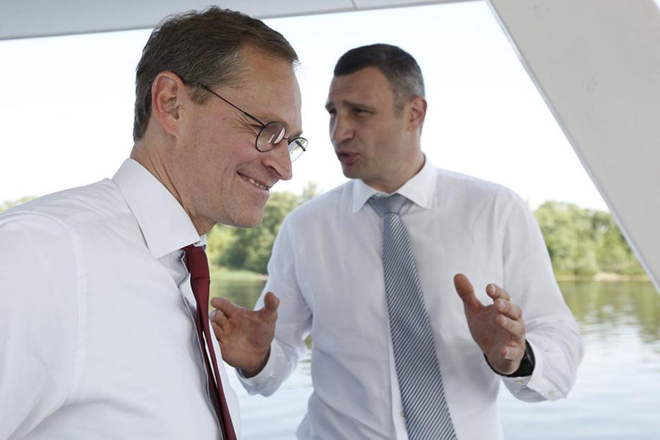 Anfang Juni beschnupperten sich beide Bürgermeister bei einem Besuch Müllers in Kiew. Der Anfang einer wunderbaren Wette.