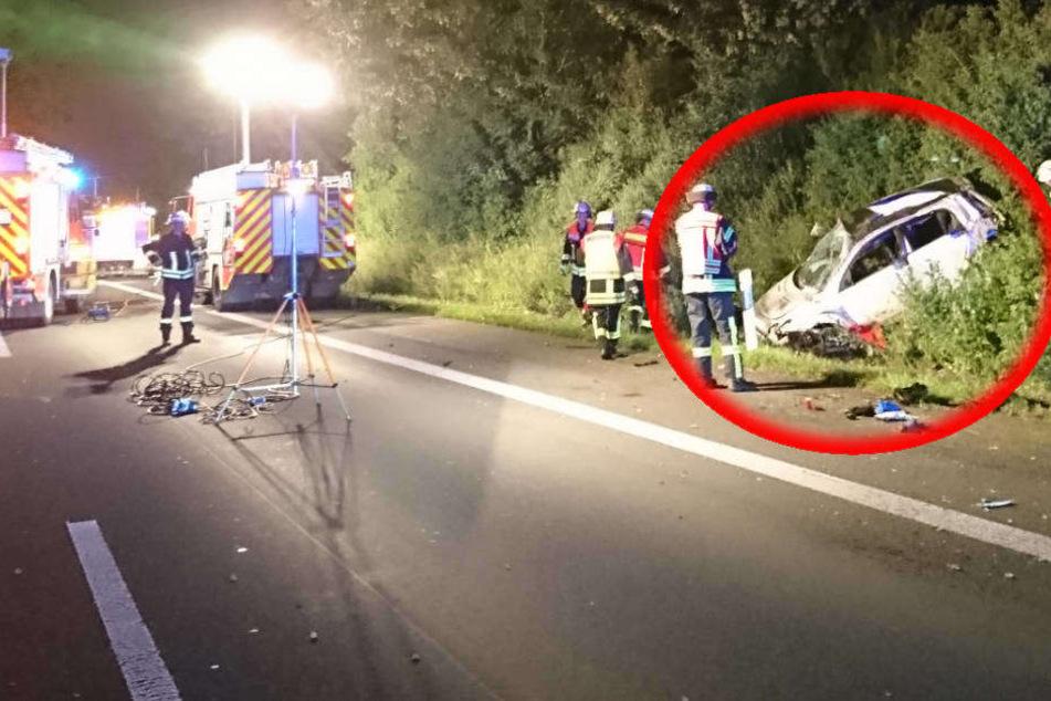 Fahrer aus Auto geschleudert: Tödlicher Unfall auf der A3