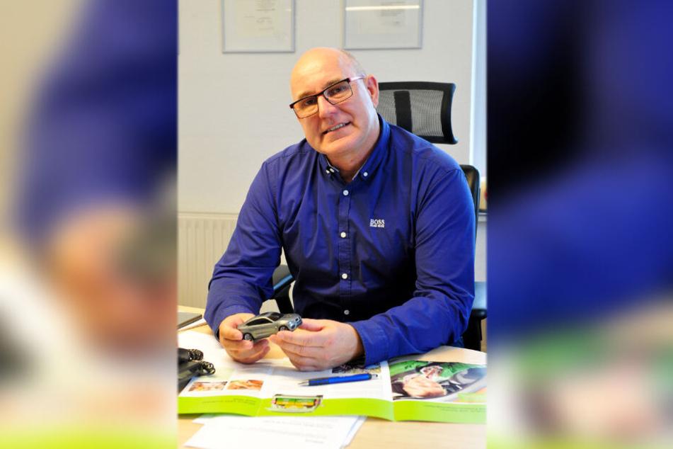 Versicherungsexperte Heiko Martin (57) von der LVM Versicherung in Altchemnitz.