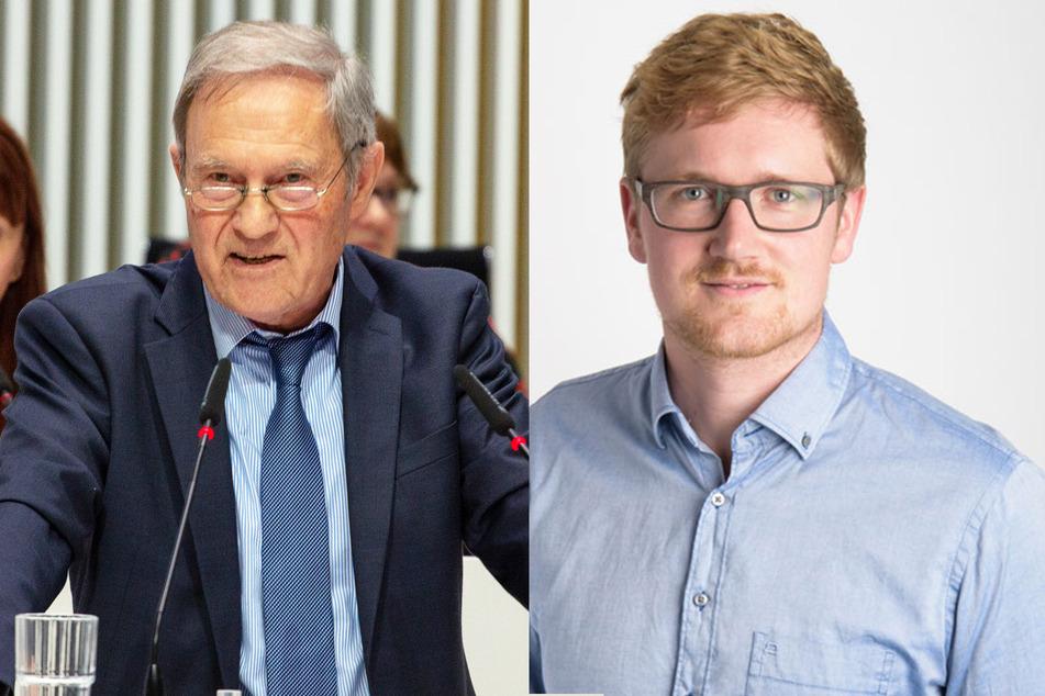 Horst Förster (l., AfD) und David Wulff (FDP).