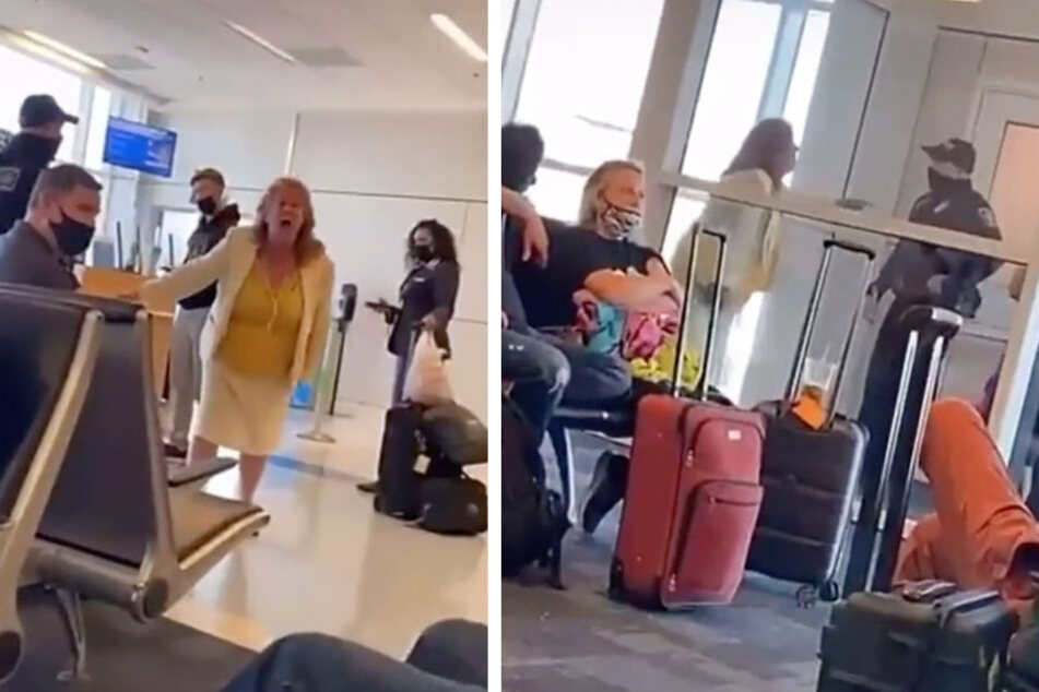 """""""I want the manager!"""" Woman's total meltdown at airport boarding gate goes viral"""