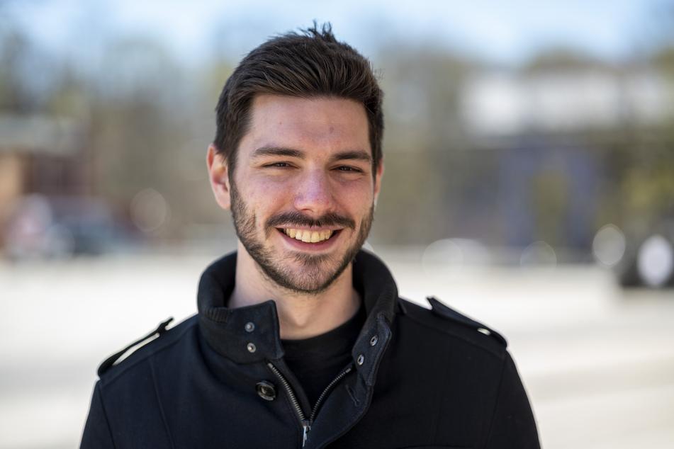 Steffen Maihöfer (24) sieht die Videoüberwachung aus Datenschutzgründen kritisch.