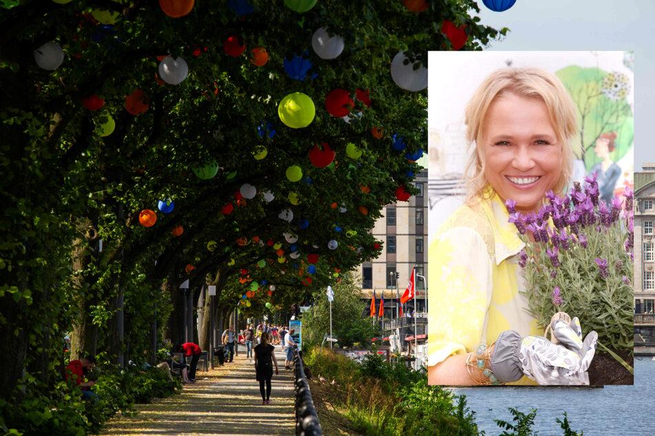 """Moderatorin Nova Meierhenrich (47) hat als Patin am Dienstag """"Hamburgs Sommergärten"""" eröffnet."""