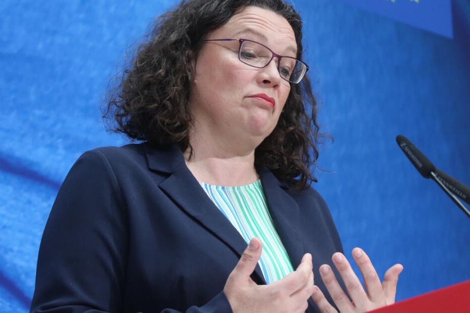 SPD-Chefin Andrea Nahles steht nach der herben Europawahl-Schlappe in der Kritik.