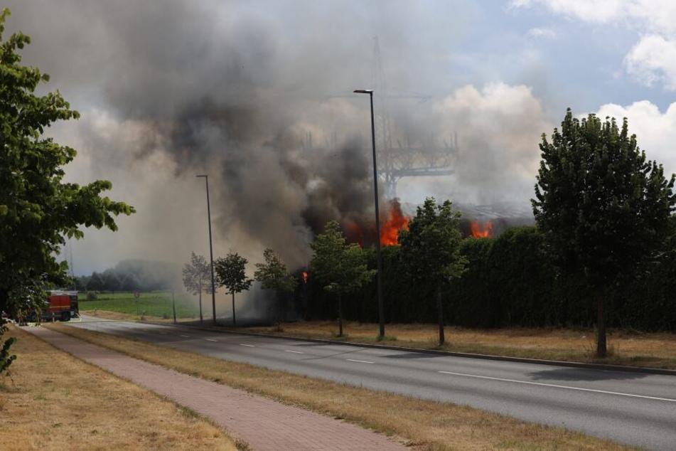 Wegen des starken Rauchs mussten mehrere Häuser evakuiert werden.