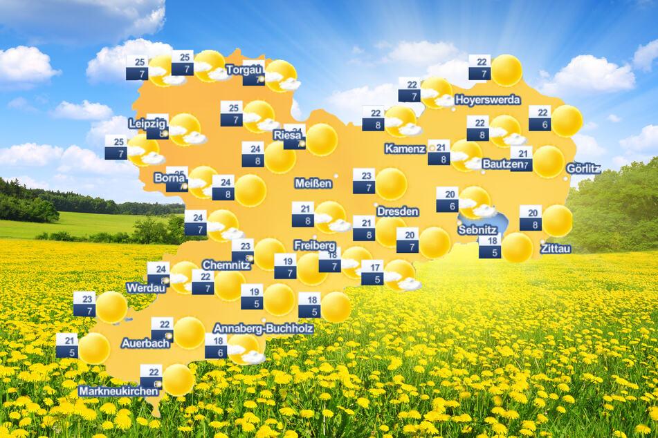 In Sachsen hält am Wochenende der Sommer Einzug.