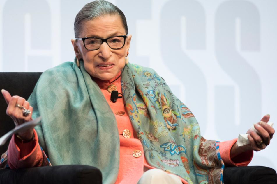 2019: Ruth Bader Ginsburg spricht in der Library of Congress auf dem National Book Festival.