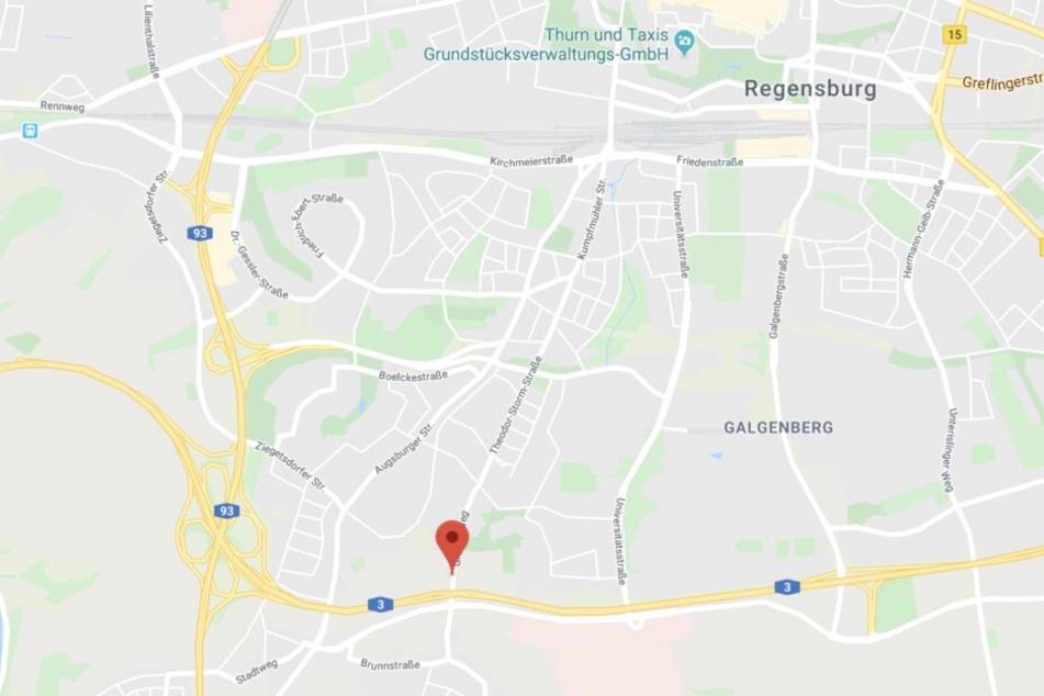 Der Mann wurde verletzt in einem Gebüsch im Regensburger Stadtteil Ziegetsdorf gefunden.