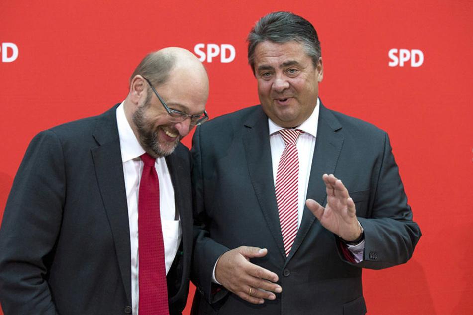 Galten als mögliche Kanzlerkandidaten: Martin Schulz (l.) und Sigmar Gabriel.