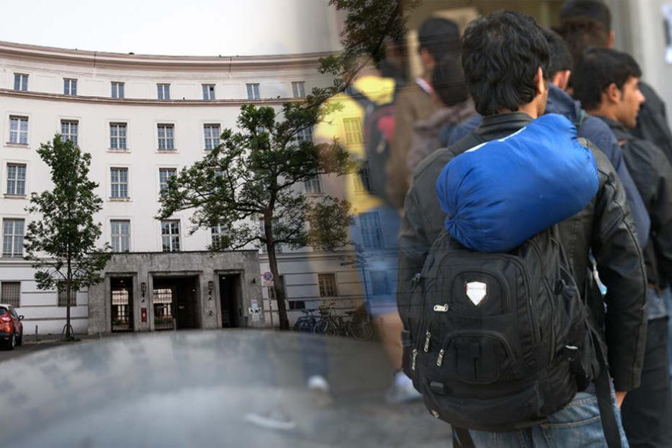 Im ehemaligen Rathaus Wilmersdorf kamen hunderte Flüchtlinge unter, jetzt müssen sie umziehen. (Bildmontage)