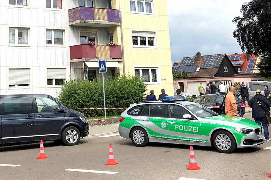 Die Polizei untersucht den Tatort in Mittelfranken.