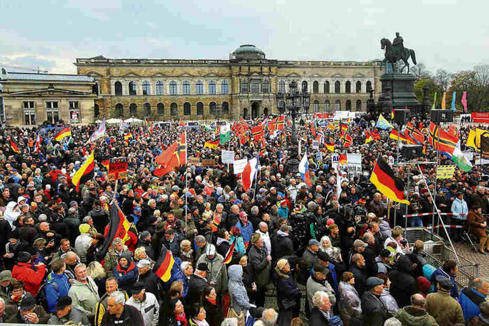 Pegida In Dresden Heute