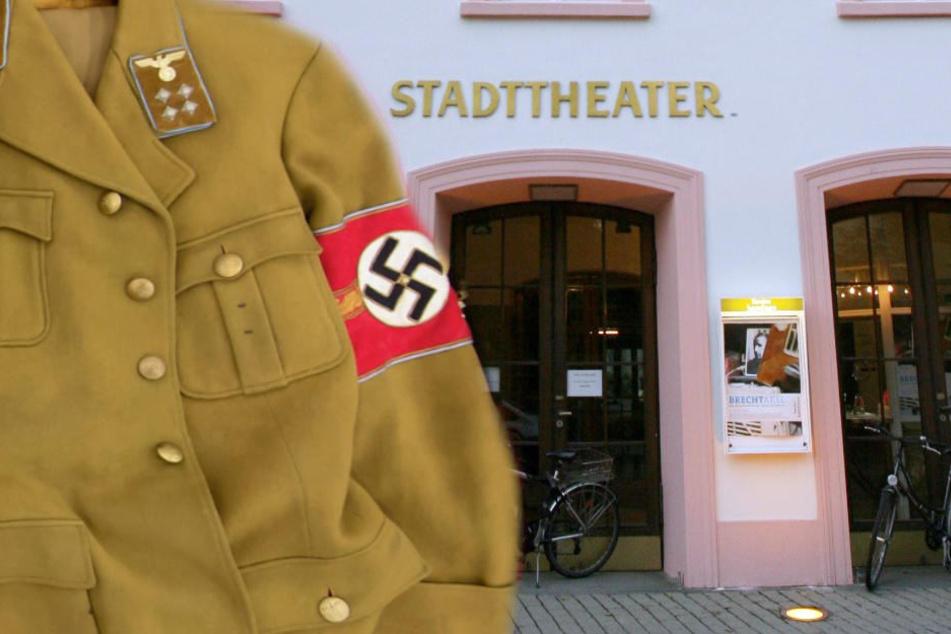 Laut Theater haben sich schon viele Menschen für die Freikarten erkundigt, die Besucher mit einem Hakenkreuz bekommen. (Fotomontage)