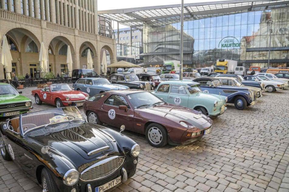 Chemnitz: Oldtimer-Rallye startet in Chemnitz und rollt mitten durchs Erzgebirge