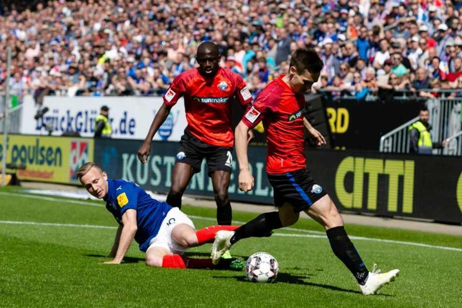 Die Paderborner waren immer einen Schritt schneller am Ball.