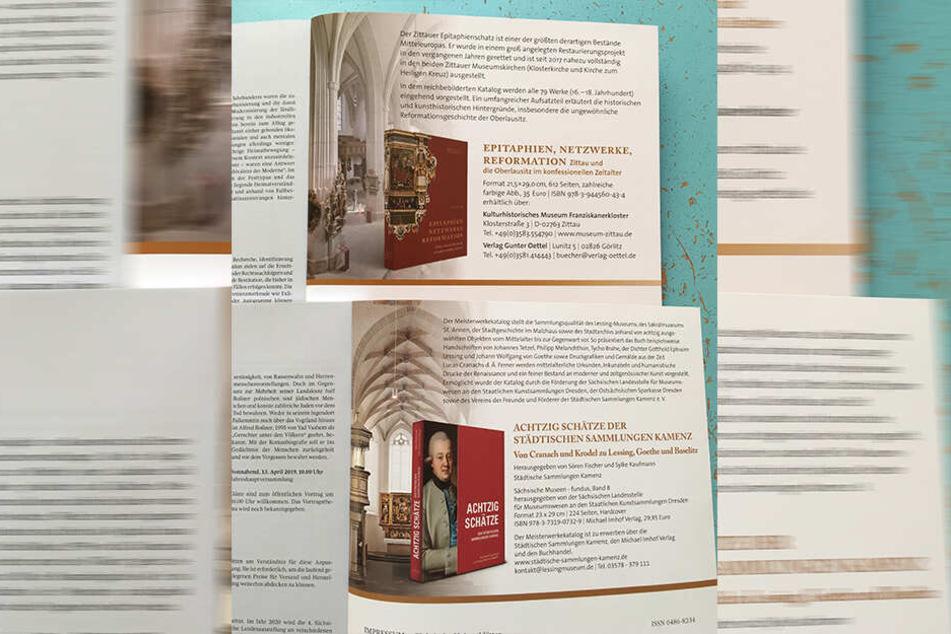 Doppeltes Lottchen: Oben die Anzeige der Zittauer Museen, unten die der Kamenzer Kollegen: Die Ähnlichkeit ist verblüffend.