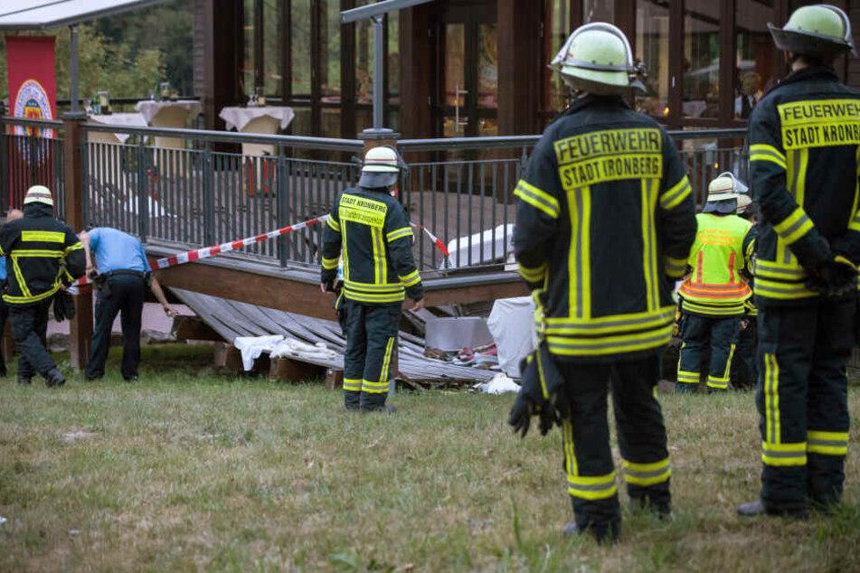 Die damals noch brandneue Terrasse stürzte im August 2015 ein (Archivbild).