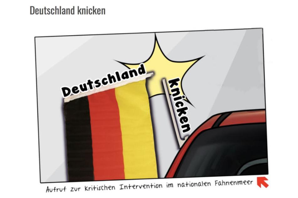Der Aufruf der Linksjugend auf ihrer Homepage.