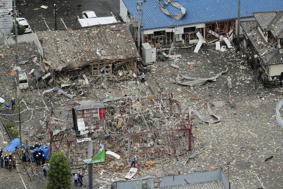 Durch die Explosion wurden auch andere Gebäude beschädigt.