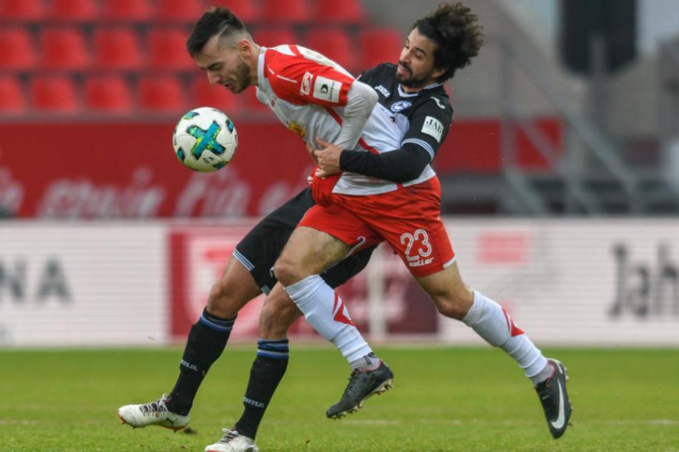 Sein letztes Spiel für den DSC: Gegen Regensburg wurde Teixeira noch vor der Pause ausgewechselt.