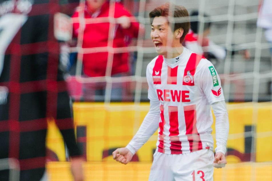 Yuya Osakos zweites Saisontor brachte dem 1. FC Köln das 1:0.