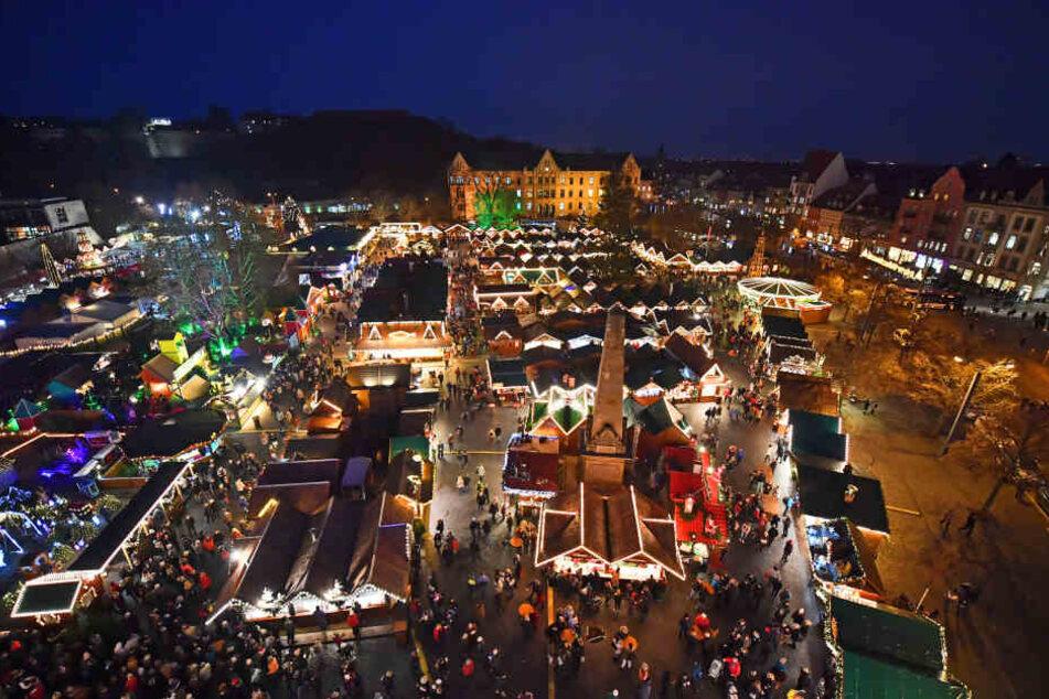 Der Weihnachtsmarkt in Erfurt.