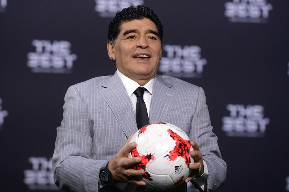 Sorgt des Öfteren für großes Aufsehen: Fußball-Legende Diego Maradona (58)