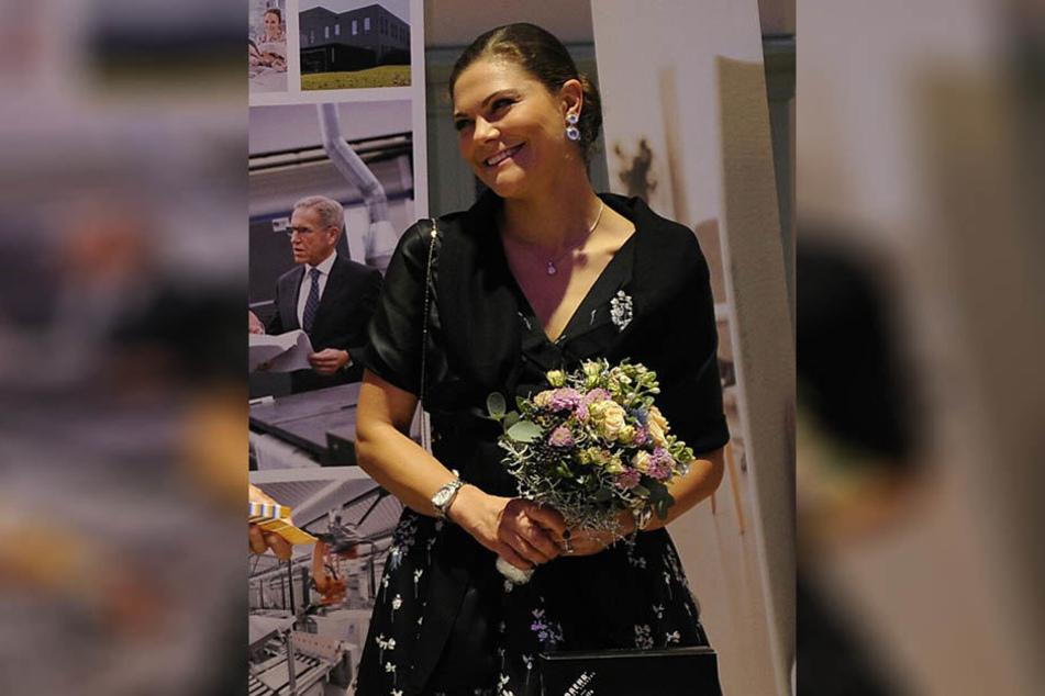 Victoria von Schweden kam gut gelaunt zur Preisverleihung.