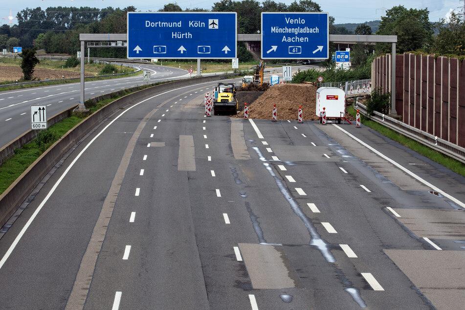 Die Strecke auf der A 61 zwischen den Kreuzen Meckenheim und Kerpen bleibt in Fahrtrichtung Venlo bis ins erste Quartal 2022 gesperrt.