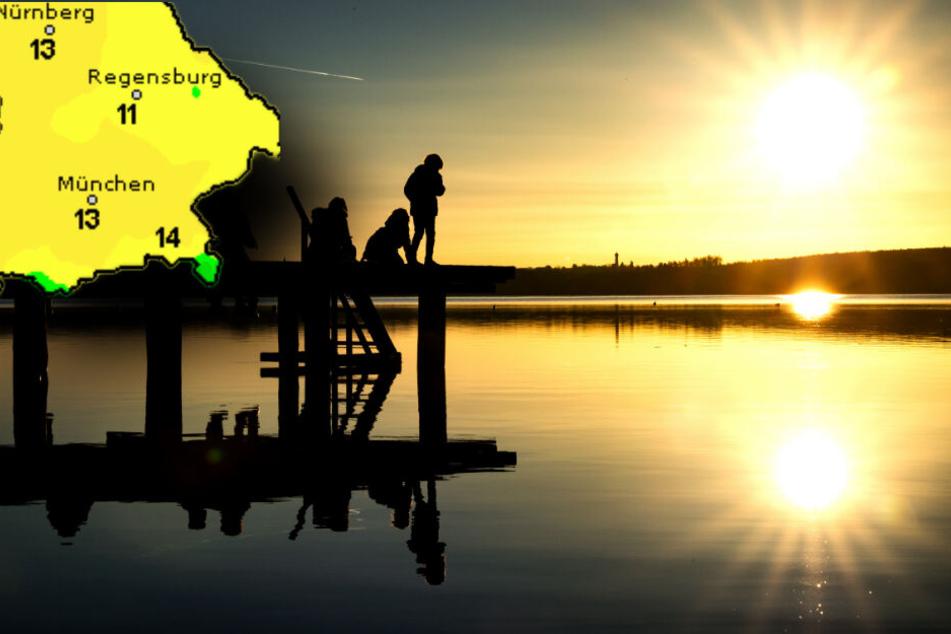 Am Ammersee kann man das ganze Wochenende lang die Sonne genießen.