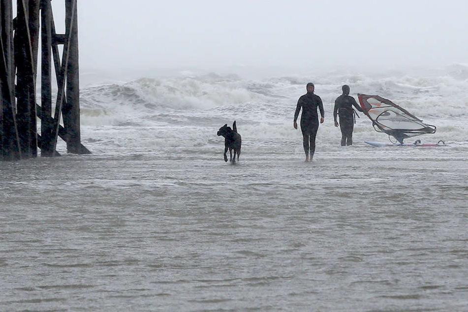 Sturmwarnung an der Nordsee