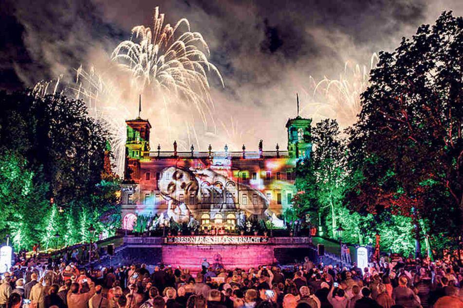 """Am 21. Juli steigt die """"Dresdner Schlössernacht"""" - natürlich wieder mit einem fantastischen Feuerwerk."""