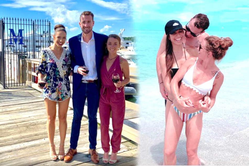 Lauren, Michael und Jessica (v.l.n.r.) sind zu dritt überglücklich.