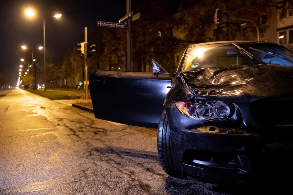 Das beschädigte Auto des 34-Jährigen.