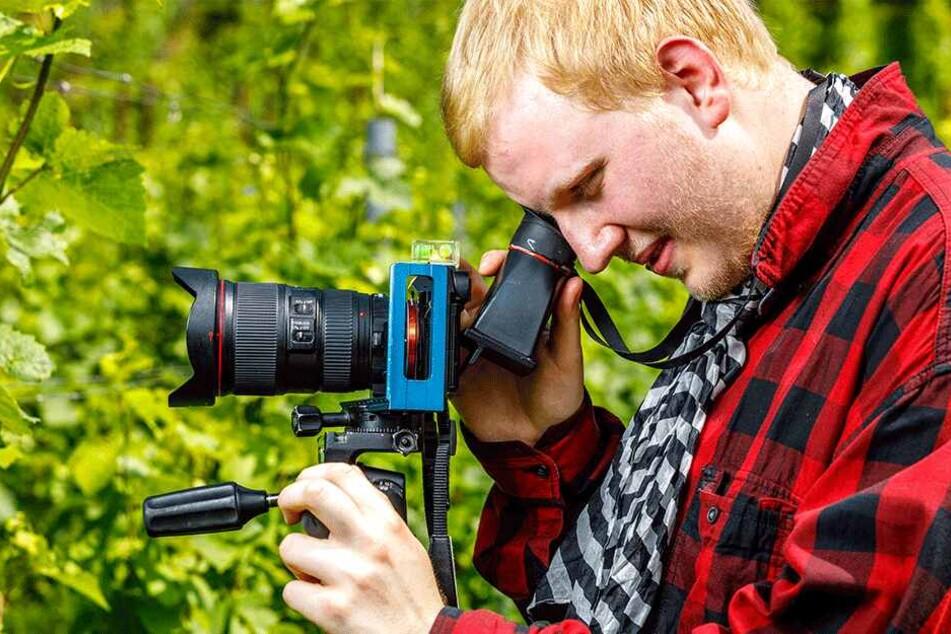 Trotz Sehbehinderung ist Justus Steinfeldt (22) leidenschaftlicher Fotograf.